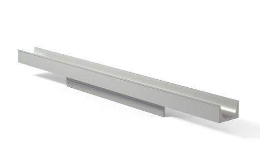 Tirador perfil 270 Aluminio plata
