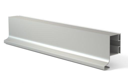 Tirador perfil gola 3000J Vertical Aluminio plata