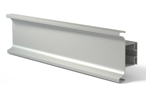 Tirador perfil gola 3000U Vertical Aluminio plata