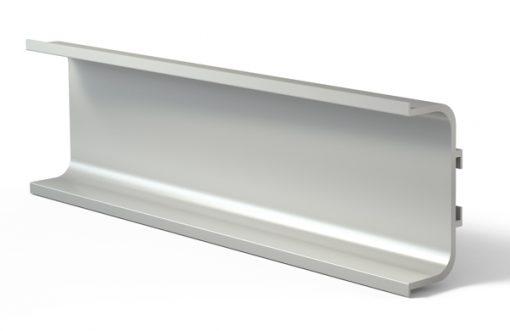 Tirador perfil gola 3000U Aluminio plata