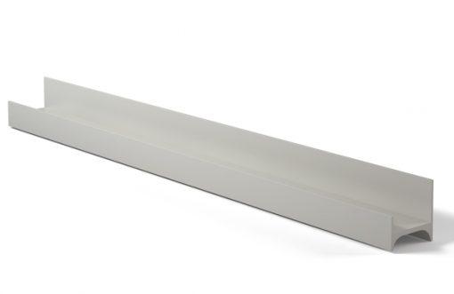 Tirador perfil 318 Aluminio plata